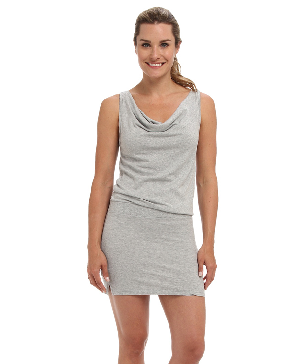 Grey, Relaxed Fit, Mini Tank Top Dress