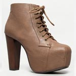 leather brown Jeffrey Campbell Litas dupes
